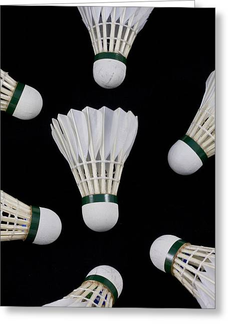 Racquet Greeting Cards - Shuttlecock 13 Greeting Card by Michael Greaves