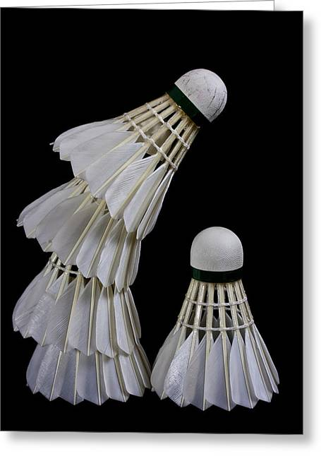 Racquet Greeting Cards - Shuttlecock 2 Greeting Card by Michael Greaves