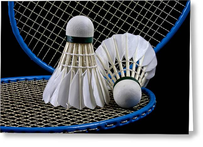 Racquet Greeting Cards - Shuttlecock 5 Greeting Card by Michael Greaves