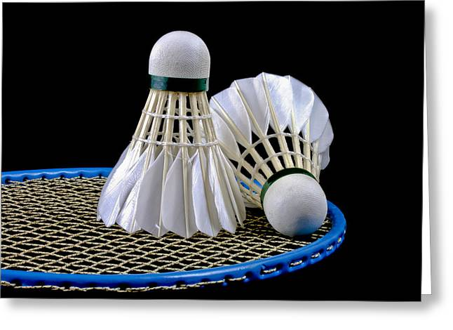 Racquet Greeting Cards - Shuttlecock 6 Greeting Card by Michael Greaves