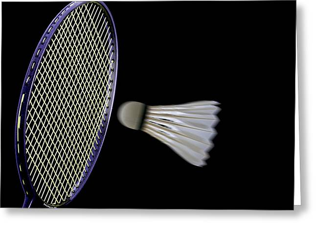 Racquet Greeting Cards - Shuttlecock 9 Greeting Card by Michael Greaves