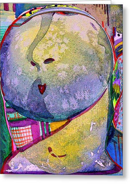 Spheres Mixed Media Greeting Cards - Shy Gal Greeting Card by Mindy Newman
