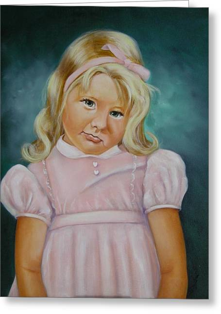 People Greeting Cards - Shy Greeting Card by Joni McPherson