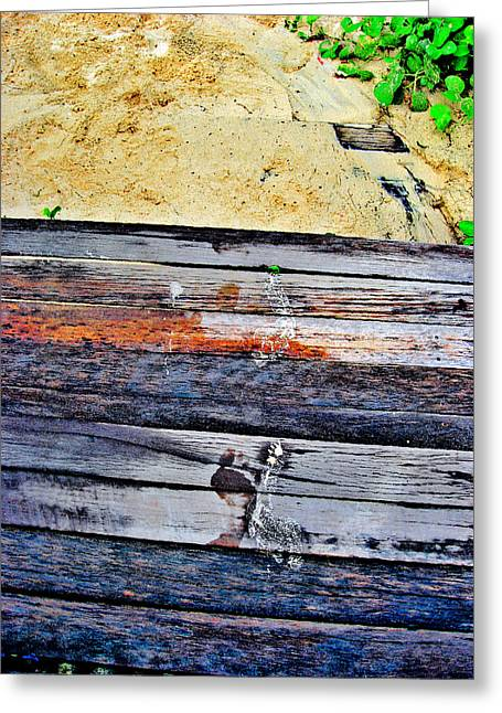 Allegoric Greeting Cards - SIAM Texture. The road to the sea Greeting Card by Andy Za