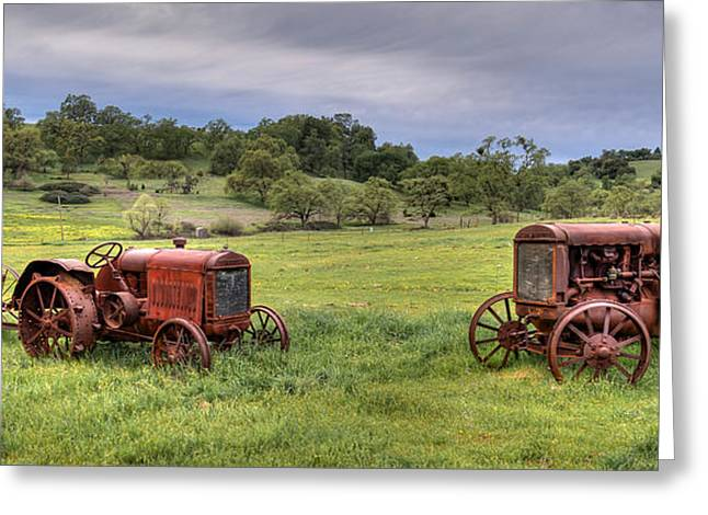 International Tractor Greeting Cards - Siblings Greeting Card by Mike Ronnebeck