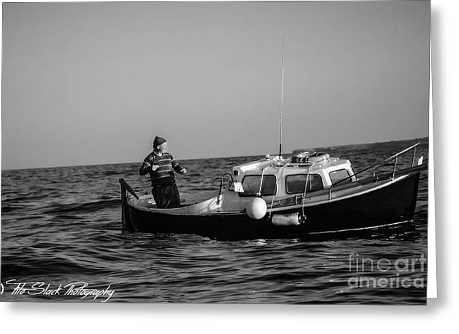 Italian Med Greeting Cards - Sicilian Fisherman Greeting Card by Tito Slack