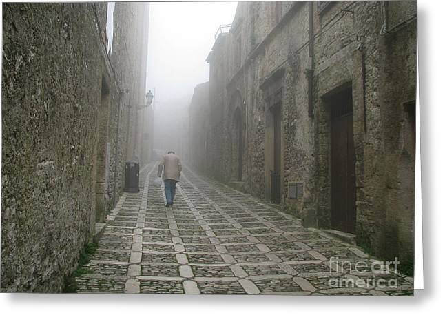 Erice Greeting Cards - Sicilian Town Greeting Card by Erik Falkensteen
