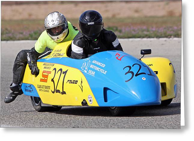 Side Car Race Greeting Card by Shoal Hollingsworth