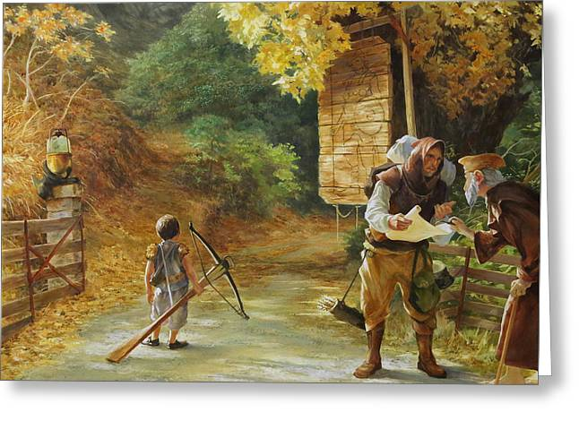 Egg Tempera Paintings Greeting Cards - Side Road Greeting Card by Egil Thompson