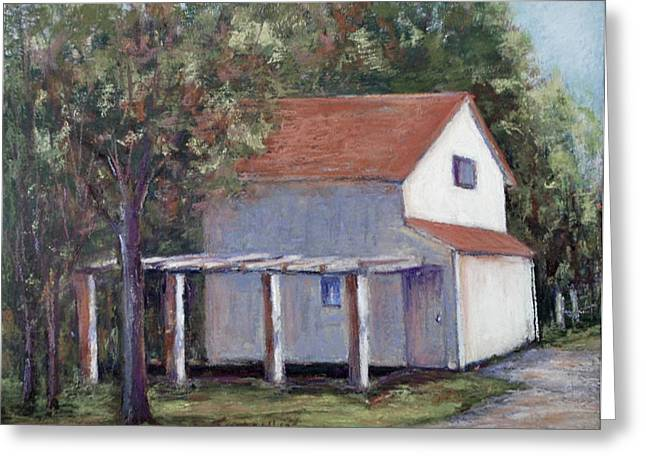 Pa Pastels Greeting Cards - Side Street Shed Greeting Card by Joyce A Guariglia