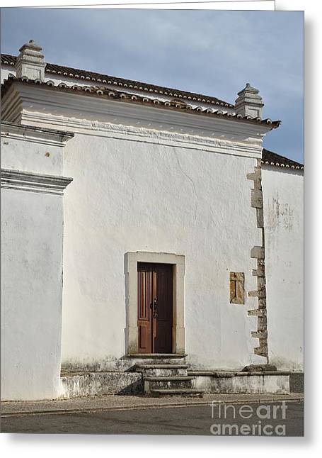 Medieval Temple Greeting Cards - Side View of Matriz Church in Loule Greeting Card by Angelo DeVal
