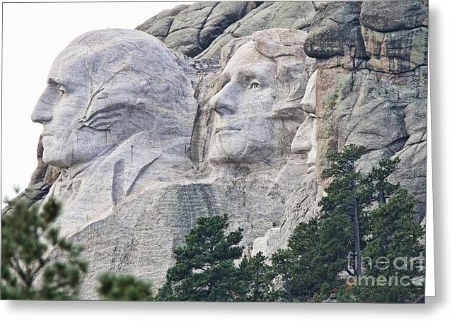 Gutzon Greeting Cards - Side View of Mount Rushmore  8696 Greeting Card by Jack Schultz