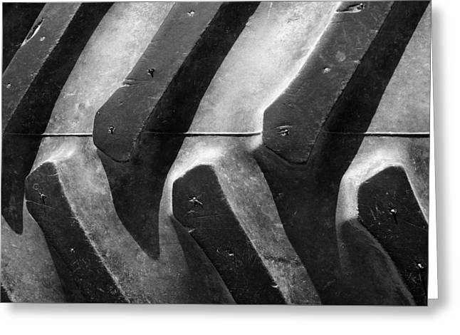 Tractor Tire Greeting Cards - Sideways Tractor Tread Greeting Card by Luke Moore
