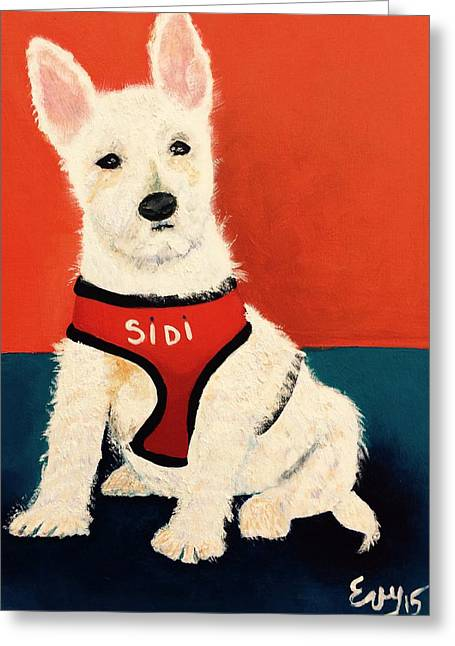 Doggies Greeting Cards - Sidi Greeting Card by Evisabel Fabrega
