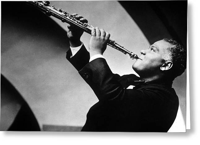 Sidney Bechet Greeting Card by American School
