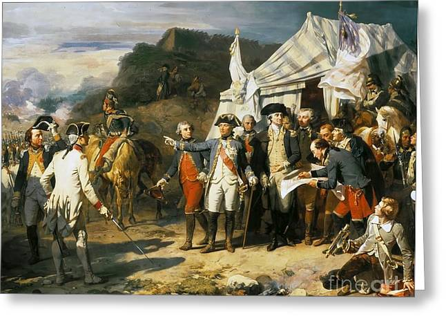 October 17 Greeting Cards - Siege of Yorktown Greeting Card by Auguste Couder