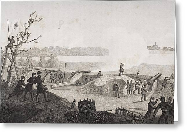Siege Of Yorktown Virginia 1862. Drawn Greeting Card by Vintage Design Pics