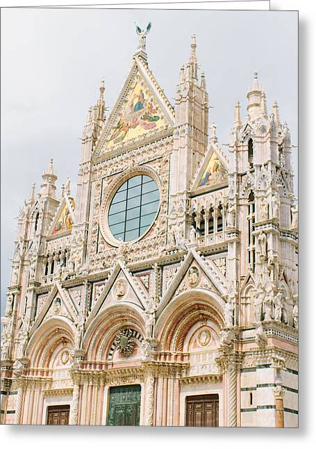 Sienna Italy Greeting Cards - Siena Duomo Greeting Card by Ariane Moshayedi