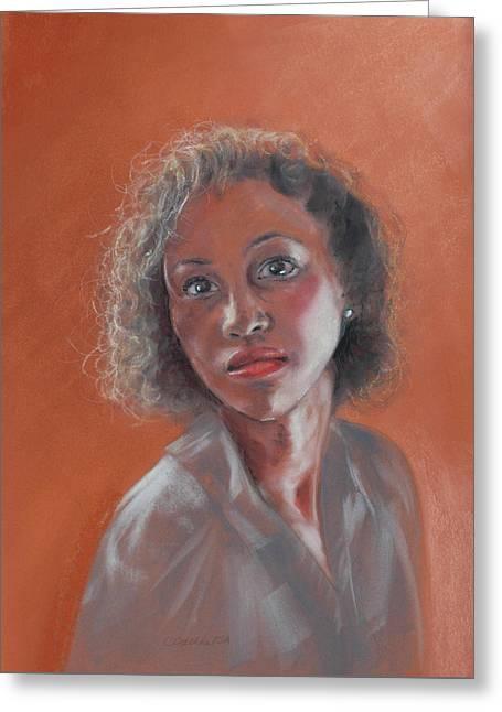 African-american Greeting Cards - Sienna Greeting Card by Carol Dallas