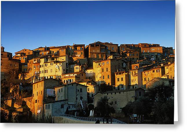 Sienna Italy Greeting Cards - Sienna Sunrise Greeting Card by Scott Baker