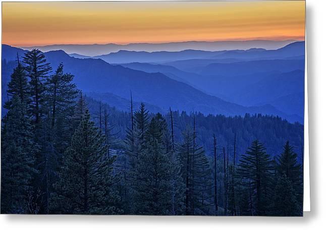 Mountain Valley Greeting Cards - Sierra Fire Greeting Card by Rick Berk