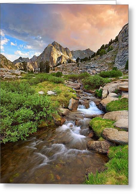 Water Flowing Greeting Cards - Sierra Flow Greeting Card by Brian Knott - Forget Me Knott Photography
