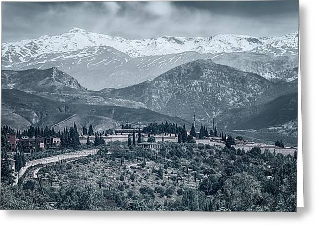 Vela Greeting Cards - Sierra Nevada Blue View Greeting Card by Joan Carroll