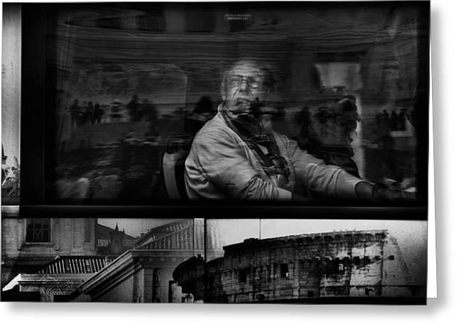 Windows Photographs Greeting Cards - Sightseeing In The Eternal City Greeting Card by Antonio Grambone
