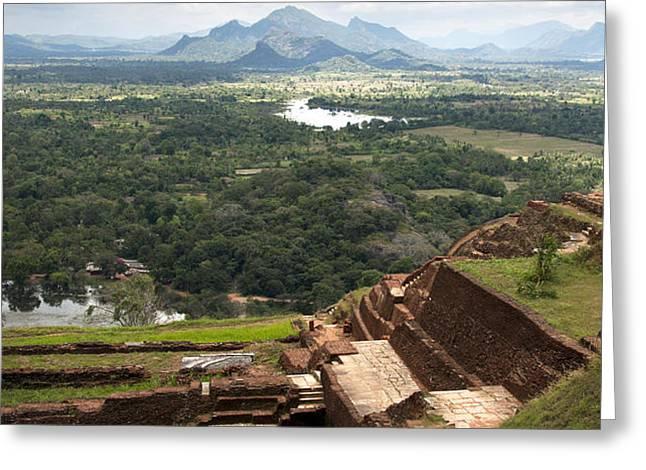 Sigiriya ruins Greeting Card by Jane Rix