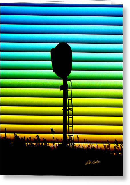 Bill Kesler Greeting Cards - Signal At Dusk Greeting Card by Bill Kesler