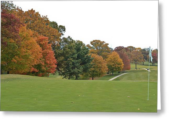The 5th Fairway # 2 Greeting Card by Tom and Pat Cory