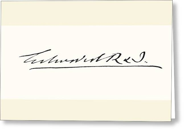 British Royalty Greeting Cards - Signature Of Edward Vii , 1841 Greeting Card by Vintage Design Pics