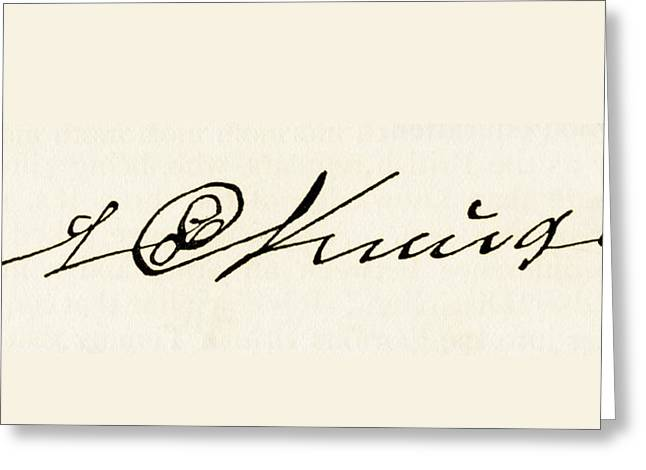 Autographed Greeting Cards - Signature Of Stephanus Johannes Paulus Greeting Card by Ken Welsh