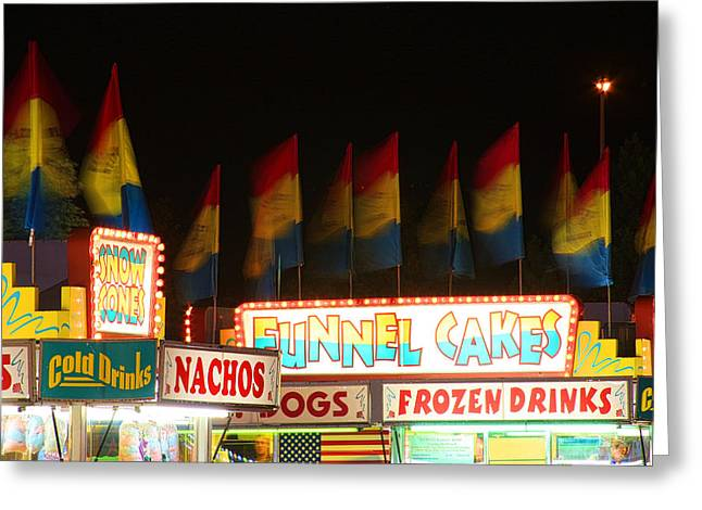 Signs Of Food At The Carnival Greeting Card by James BO  Insogna