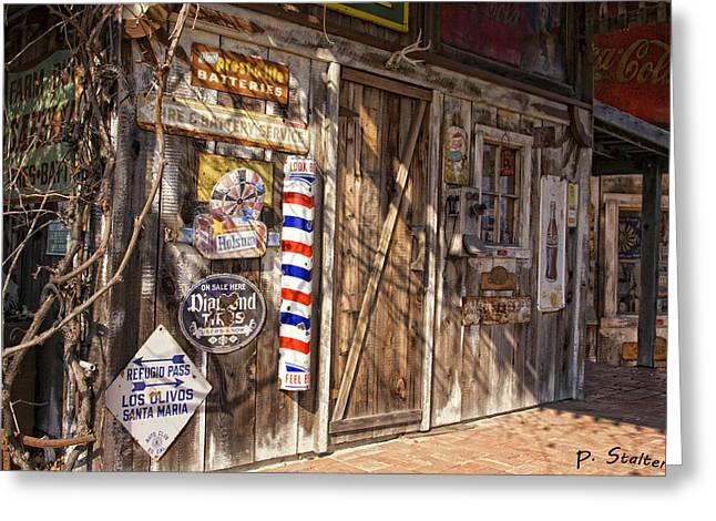 Signed Digital Greeting Cards - Signs Of The Past Greeting Card by Patricia Stalter