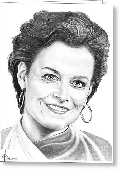 Sigourney Weaver Greeting Card by Murphy Elliott