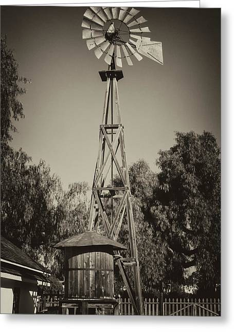 Sikes Antique Windmill Greeting Card by Guy Shultz