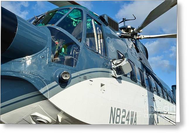 Sikorsky S-61N Greeting Card by Lynda Dawson-Youngclaus