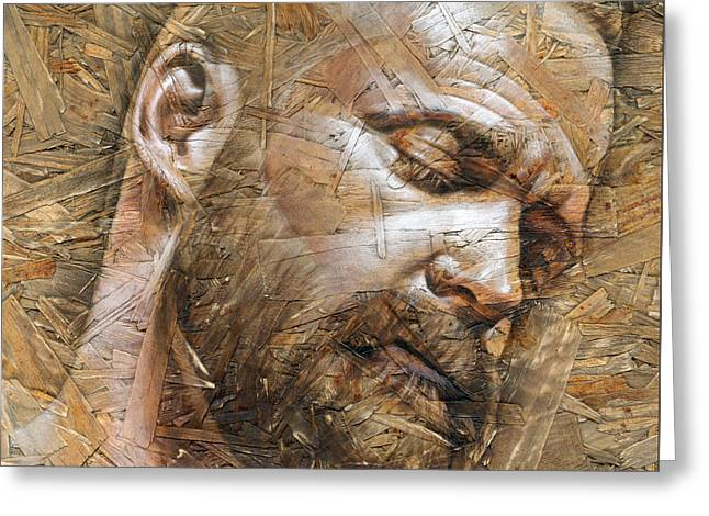 Male Mixed Media Greeting Cards - Silence Greeting Card by Chris  Lopez