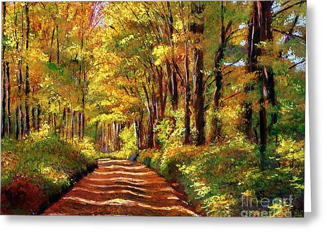 Yellow Autumn Greeting Cards - Silence is Golden Greeting Card by David Lloyd Glover