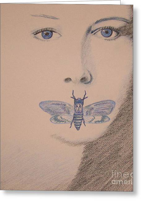 Silence Drawings Greeting Cards - Silence of the Lambs Greeting Card by Kimberly Witz