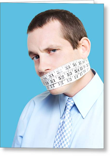 Silent Businessman Showing Measured Restraint Greeting Card by Jorgo Photography - Wall Art Gallery