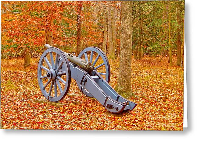 Silent Cannon Greeting Card by E Robert Dee