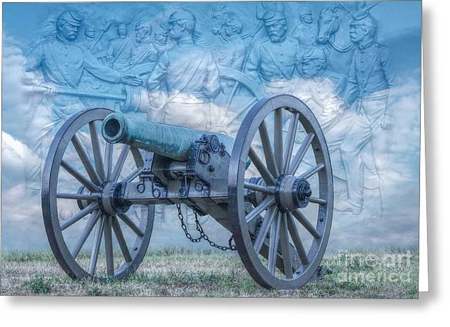 Cemetery Ridge Greeting Cards - Silent Cannon Gettysburg Version 2 Greeting Card by Randy Steele