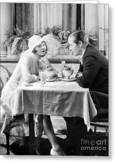 Ecromance Greeting Cards - Silent Film: Restaurants Greeting Card by Granger