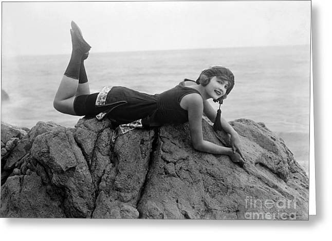 1930s Portraits Greeting Cards - Silent Film Still: Beaches Greeting Card by Granger