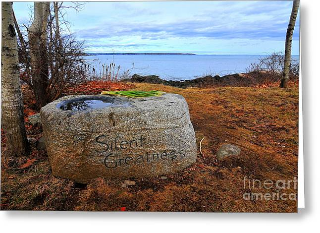 Silent Greatness  Greeting Card by Catherine Reusch Daley