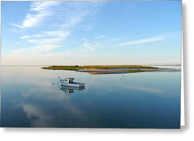 Chatham Greeting Cards - Silent Harbor Greeting Card by Heather MacKenzie