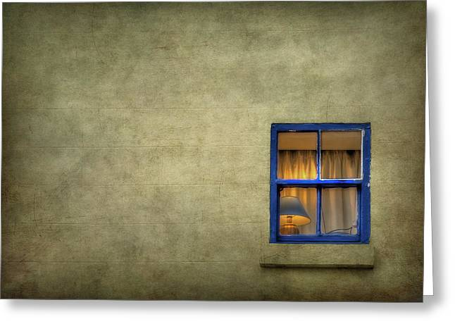Curtain Wall Greeting Cards - Silent I Wait Greeting Card by Evelina Kremsdorf