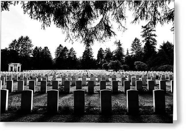 Headstones Greeting Cards - Silent Remembrance  Greeting Card by Foundry Co
